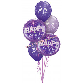 Quartz Purple Happy Birthday Bouquet