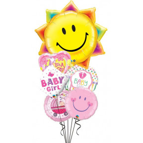 Baby Girl Sun + Smiles Bouquet