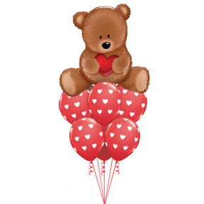 Teddy Bear Love Balloon Bouquet
