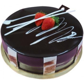 Chocolate Banana Delight (500 G Cake With 6 Stalks Rose )