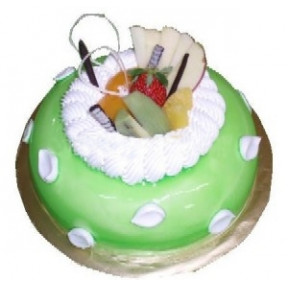 Pandan Delight (500 G Cake With 6 Stalks Rose )