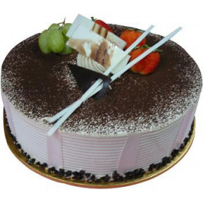 Tiramisu Delight (500 G Cake With 6 Stalks Rose )