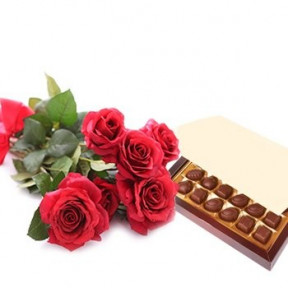 Simply Roses And Chocolates (Small)