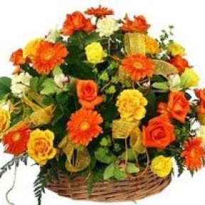 Rejoice In Love Flower Basket (Small)