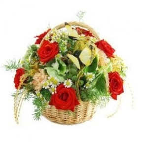 Natural Beauty Flower Basket (Small)