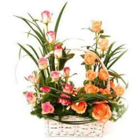 The Rose Garden Flower Basket