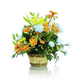 Warmest Thoughts Floral Basket (Small)