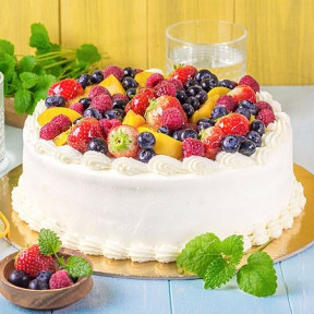Cream and fruit cake (Small)