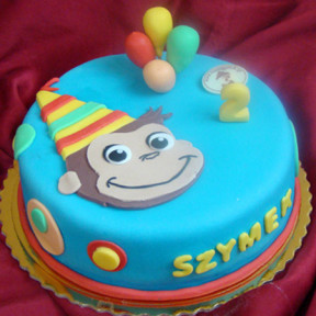 Curious George cake (Small)