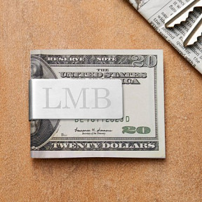 Brushed Silver Money Clip
