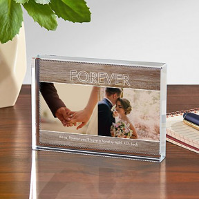 Message Of Love Photo Glass Block