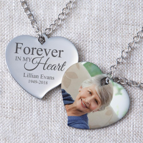 Forever In My Heart Photo Pendant