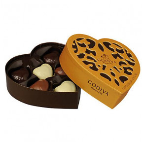Godiva Heart Shaped Chocolates - 65gms
