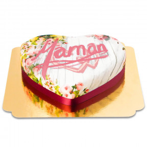 Spring Heart Cake For Moms (Medium)