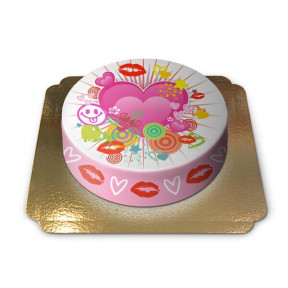Cake hearts and kisses (Small)