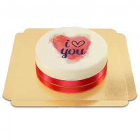 Cake - I Love You Watercolor (Small)