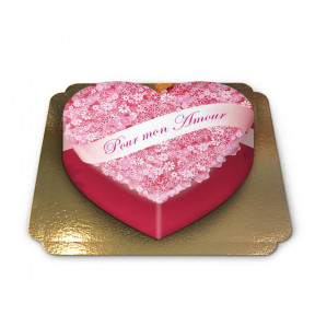 "Cake ""To My Love"" Heart Shaped (Large)"