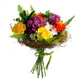 Bouquet of mixed seasonal flowers