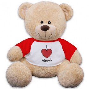 Personalized I Heart You Teddy Bear - 11 (11 inch teddy)