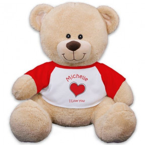 Personalized Heart Plush Bear - 11 (11 inch teddy)