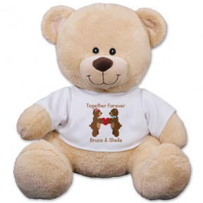 Personalized Couples Teddy Bear - 17 Inch (11 inch teddy)