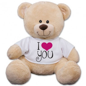 I Love You Sherman Bear - 17 Inch (11 inch teddy)
