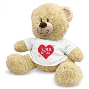 Personalized I Love U Sherman Bear (11 inch teddy)