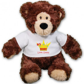 Personalized # 1 Dad Teddy Bear - 11