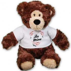 Personalized Be Mine Teddy Bear - 11 (11 inch teddy)