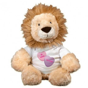 Personalized Be Mine Lion - 12 (11 inch teddy)