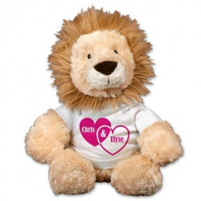 Couples Hearts Lion - 12 (11 inch teddy)