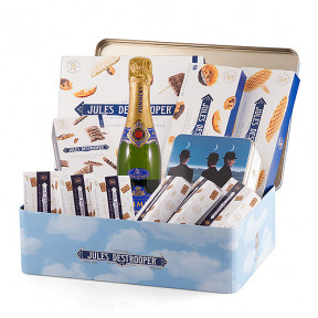 Jules Destrooper Prestige Gift Box With Lenoble Champagne