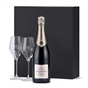 Champagne Lenoble Blanc De Blancs With 2 Glasses