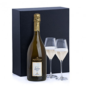 Champagne Cuvee Louise Millesime 2004 & 2 Glasses