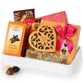 Godiva Romantic White Tray