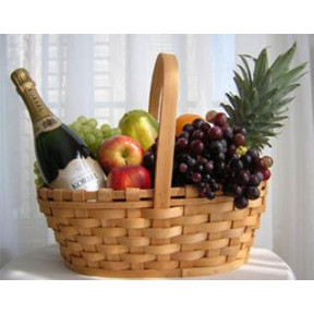 Fruit And Wine Basket