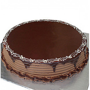 GiftBlooms Chocolate Round Fudge Cake - 3 Lbs