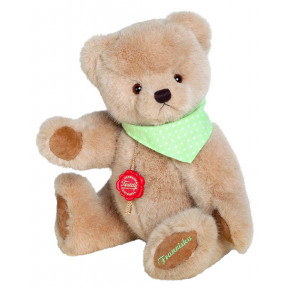 Cuddly TEDDY (personalized) 28cm in brown / light green
