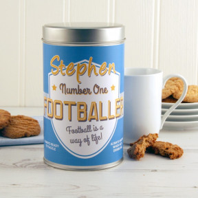 No.1 Footballer Cookie Tin Personalised