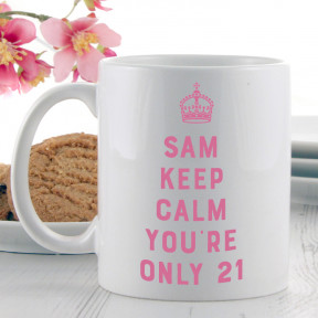 Birthday Keep Calm Carry On Gift Mug