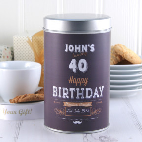 Gift In A Tin - Personalised Premium Birthday Biscuits