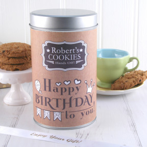 Gift In a Tin - Any Name Hands Off Cookies