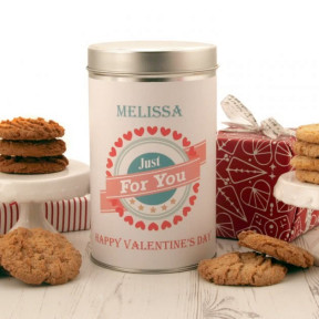 Personalised Love Cookies Tin 1