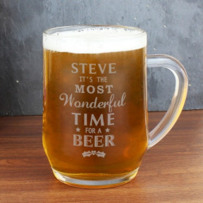 Personalised Wonderful Time For A Beer Tankard