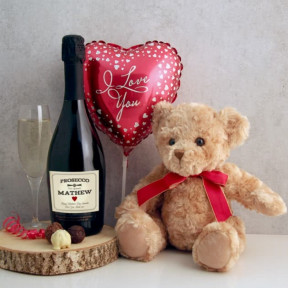 Personalised Prosecco And Teddy Bear
