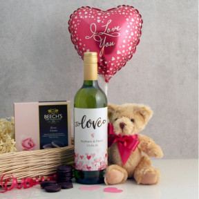 Love and Cuddles Romantic Gift Basket