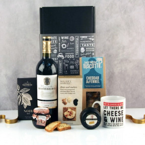 Let There Be Cheese and Wine Gift Box(RED WINE)