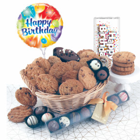 Birthday Luxury Chocolates and Cookies Gift Basket