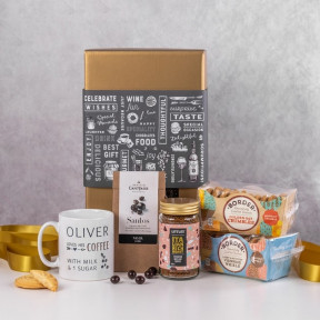 Personalised Coffee and Cookies Gift Basket