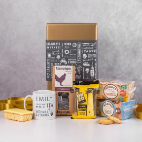 Personalised Tea and Cookies Gift Basket